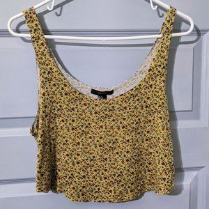 Cute Floral Crop Top Forever 21 Size Large